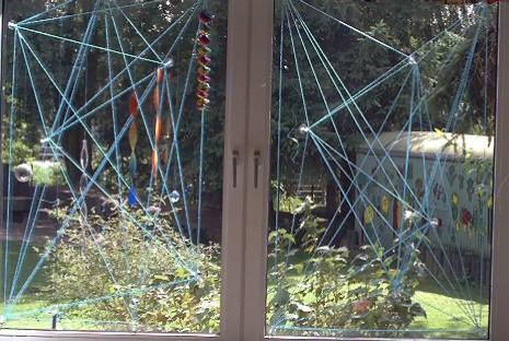 Netz Spannen kindergarten homepage spinnennetz am fenster